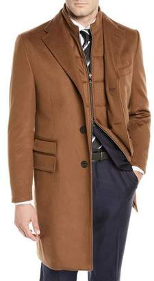 Corneliani Men's ID Wool Top Coat
