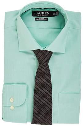 Lauren Ralph Lauren Non Iron Poplin Stretch Slim Fit Spread Collar Dress Shirt Men's Clothing