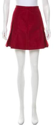 RED Valentino Pleated Mini Skirt