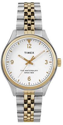 Timex BOUTIQUE Analog Waterbury Two-Tone Stainless Steel Bracelet Watch