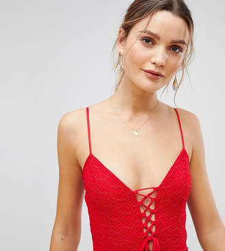 PrettyLittleThing Lace Strappy Lace Up Body