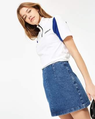 Topshop Moto A-Line Denim Skirt