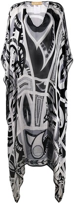Emilio Pucci Pre-Owned 2000's printed kaftan dress