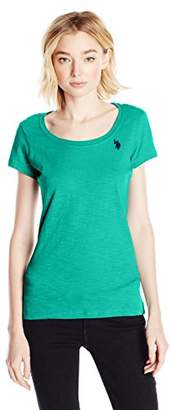 U.S. Polo Assn. Junior's Scoop Neck Solid T-Shirt