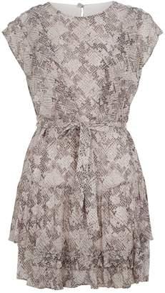 AllSaints Snakeskin Print Evely Dress