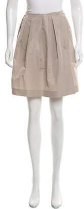 Miu Miu Pleated Mini Skirt Beige Pleated Mini Skirt