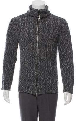 Dolce & Gabbana Wool-Blend Zip-Up Sweater
