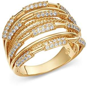 Bloomingdale's Diamond Multi-Row Ring in 14K Yellow Gold, 0.70 ct. t.w. - 100% Exclusive