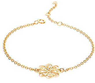 Arabel Lebrusan Gold Rosette Flower Friendship Bracelet