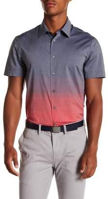 Perry Ellis Ombre Short Sleeve Regular Fit Shirt