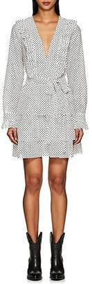 Robert Rodriguez Women's Emery Dot-Print Cotton Voile Dress - White