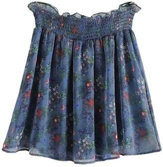Goodnight Macaroon 'Sandie' Chiffon Floral Flowy Skorts