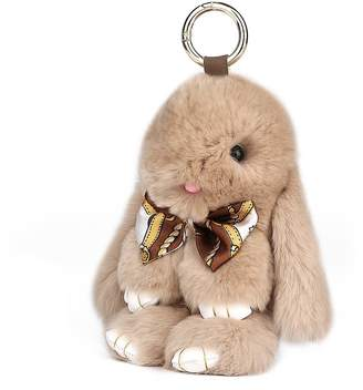 SCIONE Rabbit Doll Keychain for Women's Bag Charms or Car Pendant