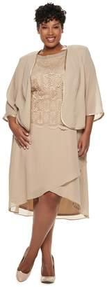 ceb4a47fdbf6a Plus Size Maya Brooke Embroidered Dress   Jacket Set