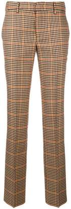 Pt01 plaid slim tailored trousers