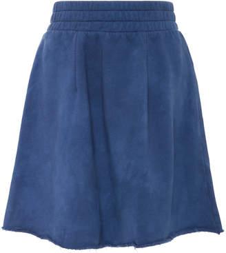 The Elder Statesman M'O Exclusive Cotton Fleece A-Line Skirt