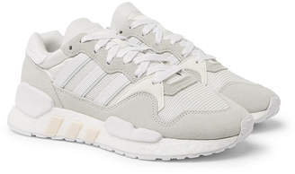 adidas ZX 930 X EQT Mesh and Suede Sneakers
