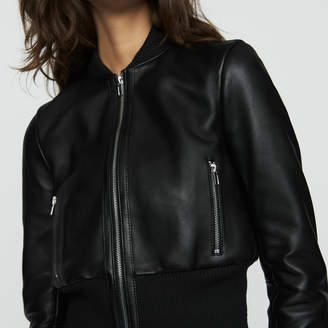 Maje Leather bomber