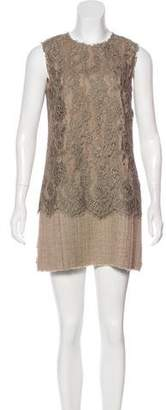 Dolce & Gabbana Silk Lace Shift Dress