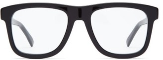 Gucci D Frame Acetate Glasses - Mens - Black