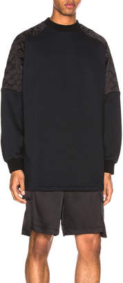 Versace Oversized Silk Quilted Sweatshirt