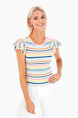 Alice + Olivia Kenia Ruffle Shirt