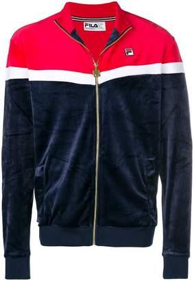 Fila colour block zipped sweatshirt