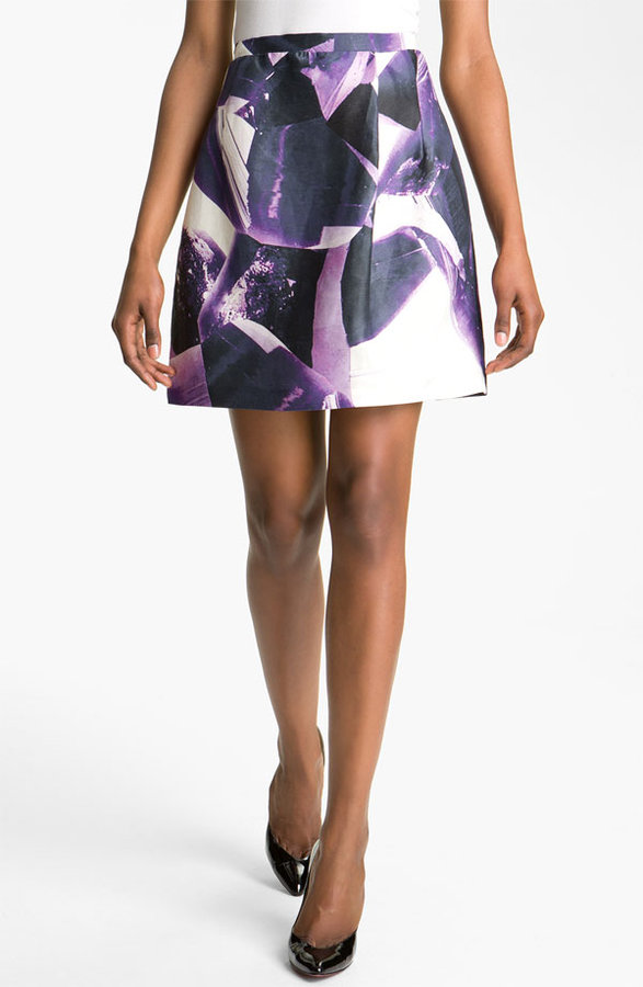 Carven Digital Print Skirt