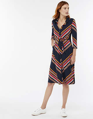 Sylvia Stripe Shirt Dress
