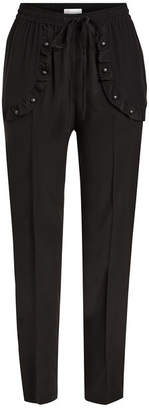 RED Valentino Tapered Silk Pants