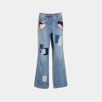 Coach Embellished Denim Pants
