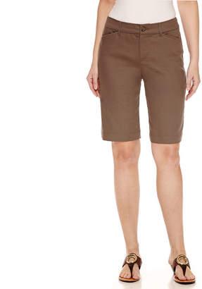 ST. JOHN'S BAY Secretly Slender 11 Twill Bermuda Shorts