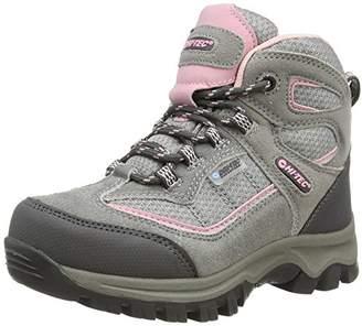 Hi-Tec Hillside Waterproof Junior Girls, Girls High Rise Hiking Shoes, Grey (Grey/Pink 051), 11 Child UK (30 EU)