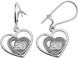 "Insignia Collection NASCAR Matt Kenseth Sterling Silver ""20"" Heart Drop Earrings"