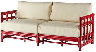"""Selamat Regeant 73"""" Sofa - Antiqued Red"""