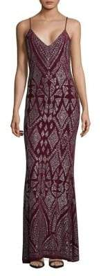 Jump Embroidered Evening Gown