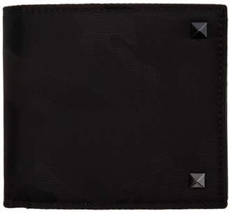 Valentino Black Garavani Camo Bifold Wallet