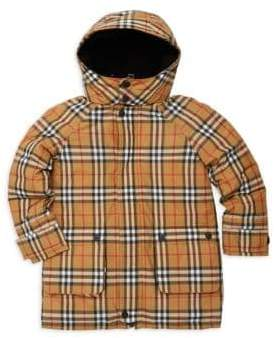 Burberry Little Boy's& Boy's Chrissy Check Down Puffer Jacket