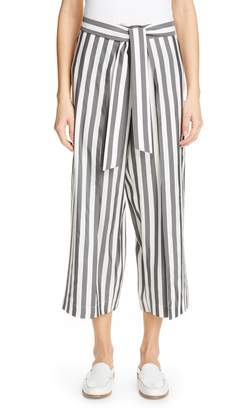 Lafayette 148 New York Skyline Wide Leg Crop Silk Pants