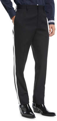 Calvin Klein Men's MWPA12 Two-Tone Side-Stripe Wool Pants