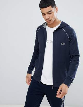 BOSS Bodywear Zip-Thru Jacket With Hood