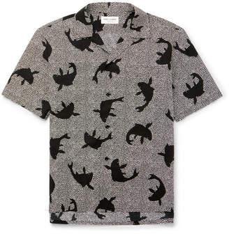 Saint Laurent Camp-Collar Printed Cotton Shirt