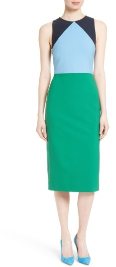 Women's Diane Von Furstenberg Stretch Wool Midi Sheath Dress