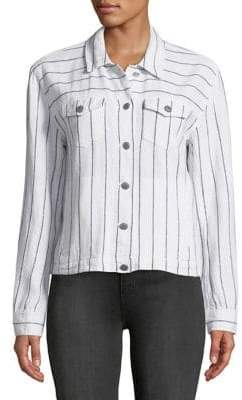 Vince Camuto Pinstriped Long Sleeve Jacket