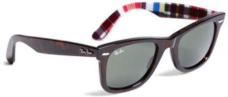 Brooks Brothers Ray-Ban Wayfarer Sunglasses with Madras