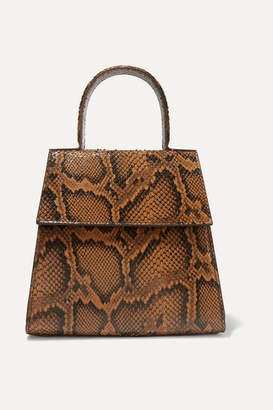 BY FAR Monet Snake-effect Leather Tote