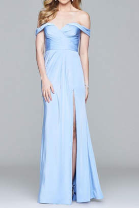 Faviana Beautiful Off-Shoulder Gown