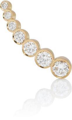 Sophie Bille Brahe Croissant de Lune 18K Gold And Diamond Small Earring