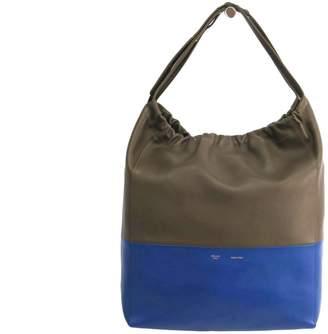 Celine Bi Color Calfskin Leather Cabas Hobo Bag (SHA-12077)