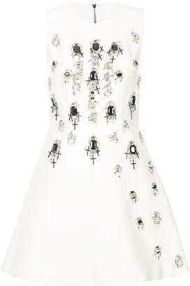 Thomas Wylde gemstone and cross embellished dress